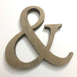 & Ampersand Wood Wall Sign / Decor Hobby Lobby